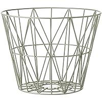 Ferm LIVING   Wire Basket Korb   Nebelgrün   L   Design   Beistelltisch    Couchtisch