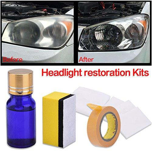 Auto Scheinwerfer Polieren Kit Auto Lampe Objektive Repair Liquid Repair Polish für Autos Fahrräder Motorräder, 10ml