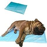 Nosli Kühlmatte Kühldecke Kühlkissen selbstkühlende Decke für Hunde / Ice blue XL