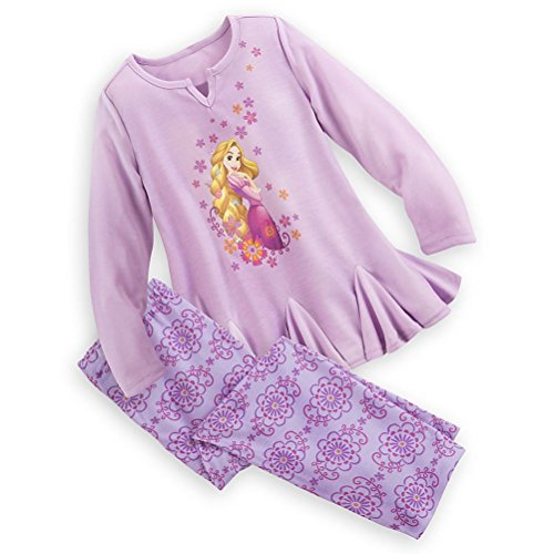 Shop Prinzessin Tangled Rapunzel M?dchen 2 PC Langarm Pyjama Set Gr??e 5/6 (Prinzessinnen Disney Langarm-pyjamas)