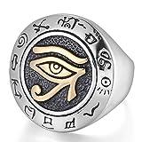 Best Men Rings - MENDINO Mens Stainless Steel Ring Egyptian Horus Eye Review