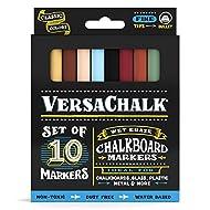 Pennarelli gesso liquidi da Versachalk–non tossico Wet Erase lavagna vetrata penne (fine classici colori set)