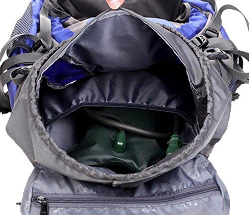 45 L Rucksack Wandern & Rucksack Pack Camping & Wandern Multifunktional,Orange Red
