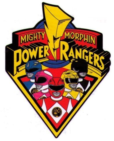 Mighty Morphin Power Rangers Logo & Characters Autocollant