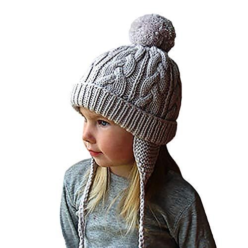 QinMM Bebés niñas niños Orejeras Calientes Sombreros
