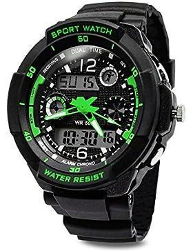 [Gesponsert]TOPCABIN Jungen Uhren Mädchen Uhren Kinder Armbanduhr Jungen Digital Analog Wasserdicht Sports Uhren für Jungen...