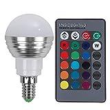 Demiawaking E27 / E14 LED RGB Lampe AC110V 220 V 5 Watt LED RGB Spot Licht Fernlicht (E14)