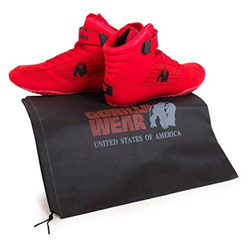 Gorilla Wear Bodybuilding Schuhe High Tops Schwarz und Rot Rot