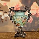 American Style Ländliche Keramik Blumen und Vögel Große Vase Retro Vase Home Dekorationen Europäischen Stil ( größe : 23*30cm )