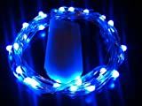 HLS 30 LED SW 3m lang CR2032 Batterie Lichterkette im Blau
