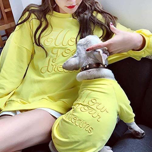 Matching Hunde Kostüm - ZHAS Hundebekleidung Fashion Dog Matching Hoodie Pet Shirt Eltern-Kind-Kleidung für Hunde Kostüm Bulldog Hundebekleidung