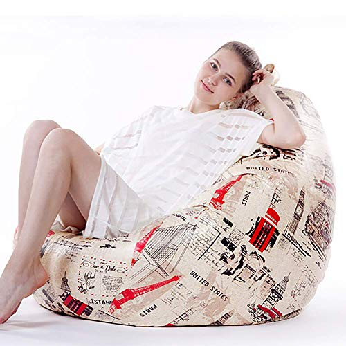 ZPL Mikrofaserleder beanbag Lazy Sofa Liegen Tatami extra groß Schlafzimmerboden, Indoor Lounge...