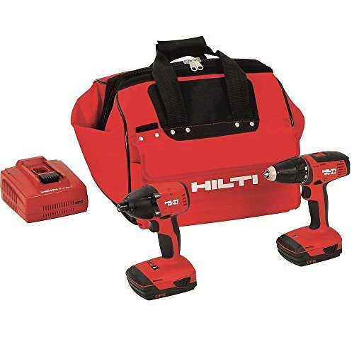 Hilti 3487032 18-Volt Lithium-Ion Cordless Drill Driver/Impact Driver Compact Combo Kit by (Cordless Impact Driver Kit)
