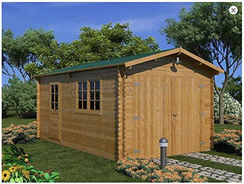 Mondocasette Casa Casa de Madera de jardín–Modelo Garaje Grosor Paredes 45mm 320x...
