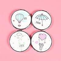 Preisvergleich für Baby-lustiges Spielzeug Adorable Doppelseitige Metall Runde Form Flying Mood Design Kompakte Taschenformat Spiegel Random Farbe