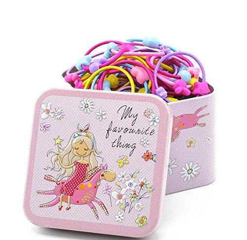 1 caja (100 unidades), varios colores, diseño de dibujos animados con una bonita caja de cartón para niñas y niños (color al azar)