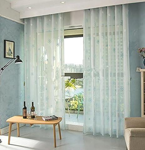 Hochwertige Hollow Lace Screens Breathable Balkon Schlafzimmer Sheer Fenster Vorhänge Hollow Belüftete 78.7inch * 106inch Balkon 1-Stück , 1