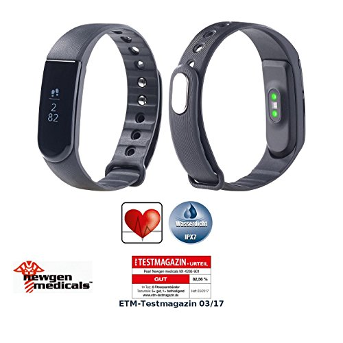 newgen medicals Sport-Smartwatch: Fitness-Armband V4, XL-Touch-Display, Nachrichten, dyn. Herzfreq, IP67 (Fitness Smart Tracker Watch)