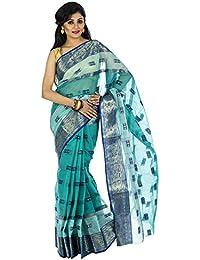 MMantra Green Color Cotton Tant Saree (mmantra399)