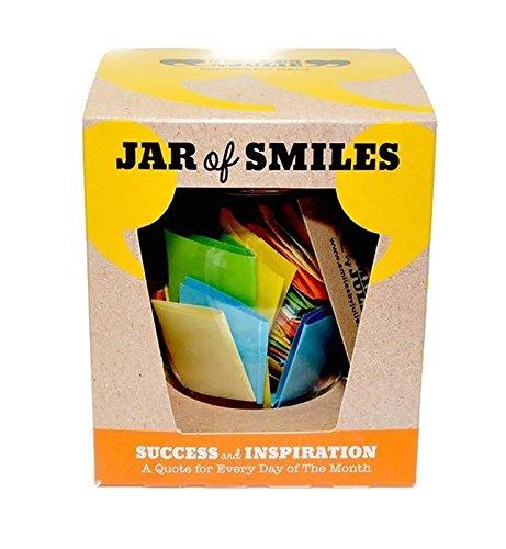 Smiles by Julie - Barattolo del successo e dell'ispirazione, con un mese di pensieri e parole motivazionali in un barattolo ermetico di tipo Kilner da 125 ml 31 bigliettini multicolore con citazioni per ispirare ogni giorno voi e la vostra famiglia. Il regalo perfetto per gli amici, la famiglia e le matricole dei corsi di studio. 'Sii la ragione per cui qualcuno oggi sorride'.
