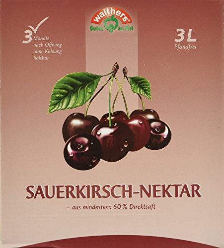 Walthers Sauerkirsch-Nektar, 2er Pack (2 x 3 l Saftbox)