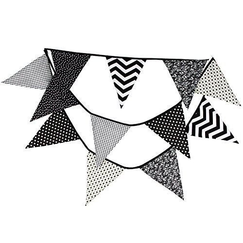 3.6M 12 Fahnen Baumwolle Dreieck String Flagge Baby Dusche Hochzeit Party Veranstaltungsort Dekoration Lieferungen