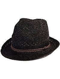 fae351f2d8b51 SIGGI Paja Unisex Dom Sombrero Hombres Empacables Mujeres Fedora Trilby  Panamá Verano Ala Corta Moda