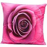 T'aimer Federa Cuscino Custodia di Cuscino 3D Rosa breve peluche Fantascia 45*45cm Decorazione per Casa