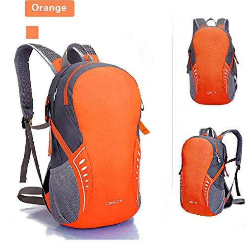 Un sacco di linea impermeabile ultra carica di nuovo giorno sport borsa spalla equitazione escursionismo zaino nuovo uomini e donne 38 * 24 * 15 cm , black , 19 inch Orange