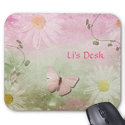 Desktop-Mausunterlage Blumen + Weiche Strudel-Reben + Schmetterlings-Weibliches Mauspad -