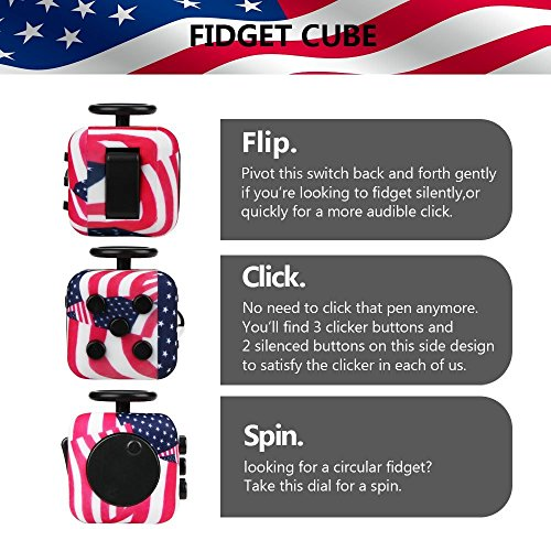 Wangyue NEW Camouflage Series of Fidget Toy Fidget Cube Stress Reducer Relieves Stress And Anxiety Toy - 6