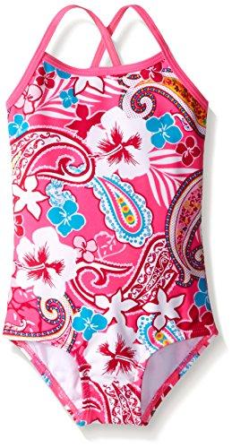 Kanu Surf Baby Girls' Summer Dream One Piece Swim Suit, Pink, 12 Months