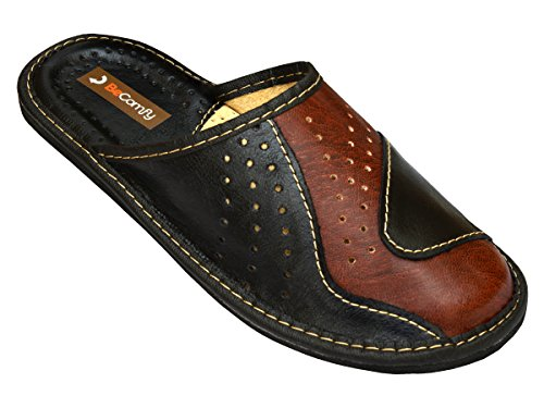 Genuine Men's Leather Slippers, Flip-Flops, Mules