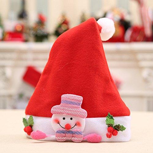 pengyu Schneemann Bär Rentier Santa Claus Weihnachts Hat Kind Fancy Party Kleid Weihnachten, Stoff, schneemann, Einheitsgröße
