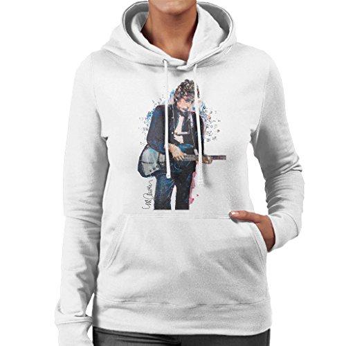 Sidney Maurer Bob Dylan On Bass Official Women's Hooded Sweatshirt White