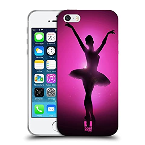 Head Case Designs Graceful Ballerina Silhouette Performers Soft Gel Case for Apple iPhone 5 / 5s