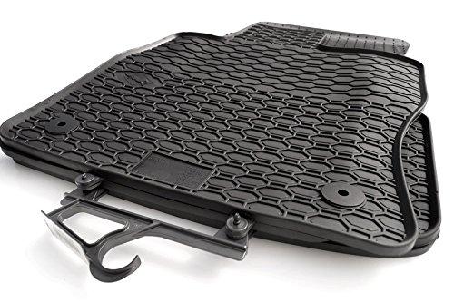 Preisvergleich Produktbild Gummimatten Original Qualität Gummi Fußmatten 4-teilig schwarz