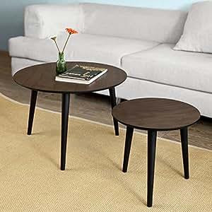sobuy 2er set couchtisch beistelltisch 2 teilig tisch. Black Bedroom Furniture Sets. Home Design Ideas