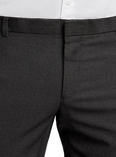 oodji Ultra Herren Klassische Hose Slim Fit Grau (2500O)