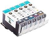 5 Premium Druckerpatronen ersetzen Original Canon PGI-5 & CLI-8, MADE IN GERMANY, passend für Canon Pixma IP 4200, 4200 X, 4300, 4500, 4500 X, 5200, 5200 R, 5300, Pixma MP 500, 530, 600, 600 R, 610, 800, 800 R, 810, 830, 970, 850