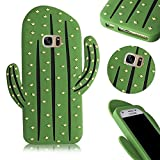 QianYang Galaxy S7 Etui Cartoon Doux Silicone Coque Case pour Samsung Galaxy S7 3D Cactus Housse pour Samsung Galaxy S7 Cartoon Soft Gel de Silicone Coque Housse étui Cover Pour Samsung Galaxy S7 Souple Hull Shock-Absorption Bumper Back Cover de Protection Shell