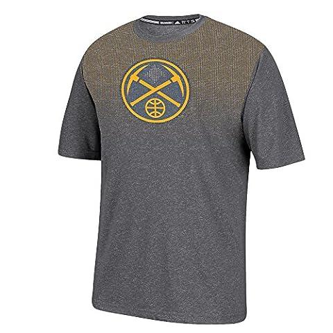 NBA Denver Nuggets Men's Surface Short Sleeve Tee, Medium, Dark Gray