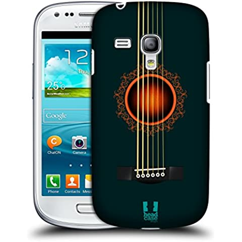 Head Case Designs Dark Turquoise Acoustic Guitar Protective Snap-on Hard Back Case Cover for Samsung Galaxy S3 III mini I8190