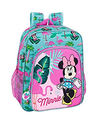 "Minnie Mouse ""Palms"" Oficial Mochila Escolar Junior 320x120x380mm por Safta"