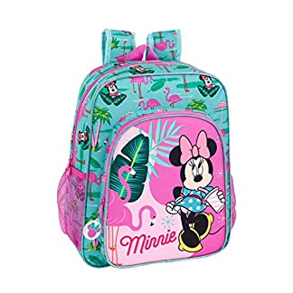 "51ZlrPWUftL. SS324  - Minnie Mouse ""Palms"" Oficial Mochila Escolar Junior 320x120x380mm"
