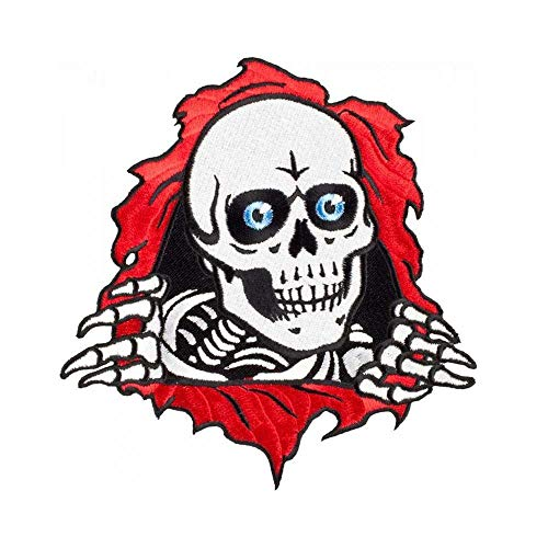 Powell Peralta Rot Weiß Ripper - 3 Inch Aufnäher (One Size, Rot)
