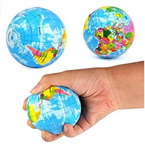 Annedenn Neu Welt Karte Schaum Erde Globe Stress Relief Bouncy Ball Geographie Spielzeug