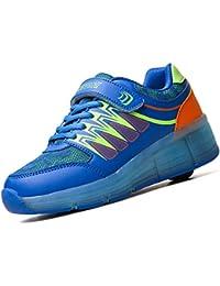 Zapatos de rodillo con LED,Parpadeante zapatos deportivos al aire libre Niño