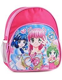 Sac à dos scolaire fille - 24cm - Idéal pour l'école maternelle - avec 1 poche avant zippée, 2 poches côté et 1 compartiment zippé