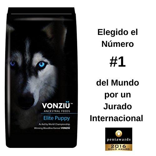 VONZIU Pienso Cachorros y Perros Jovenes 10 kg - Alimento Seco Rico en Pollo Pescado (Fuente de Omega 3) Vitaminas y Minerales - Raza Pequeña Mediana Grande y Gigante